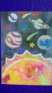 Space sand art