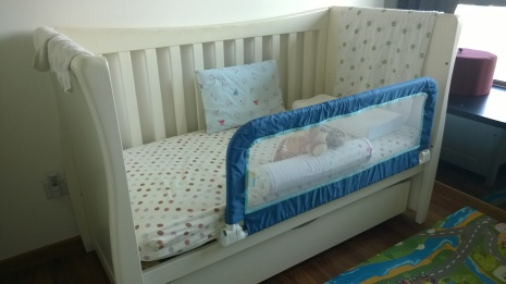 B's convertible cot bed (from 6 months and counting)