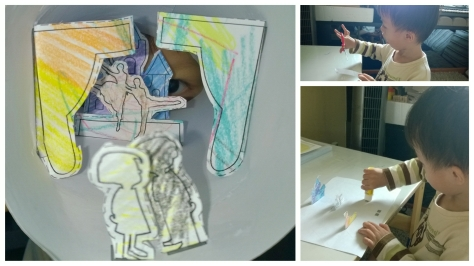 Art: Finishing the DIY craft from our National Museum visit