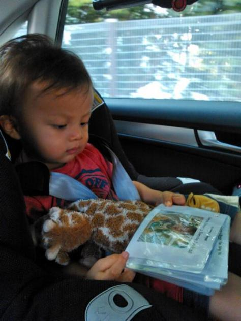 Reading his first DIY book