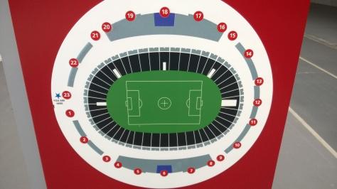 Layout of the 55,000 capacity National Stadium