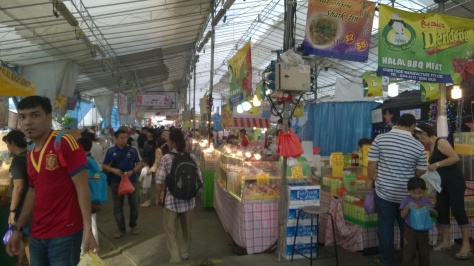 Inside the bazaar, it can get quite stuffy despite the handful of ceiling fans